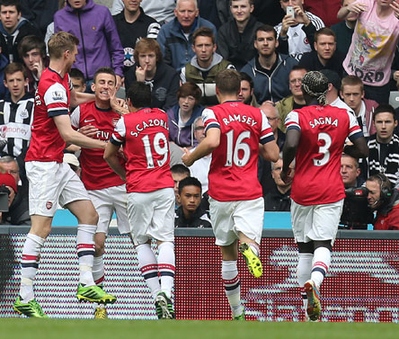 EPL: Koscielny strikes to seal Champions League berth for Arsenal