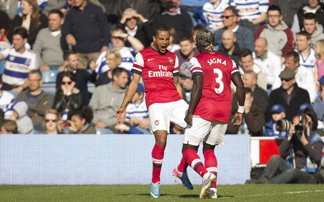 EPL: Early Walcott strike leads Arsenal to 1-0 victory over QPR