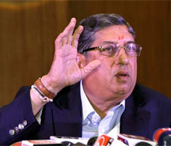 Srinivasan elected TNCA President for 12th straight time