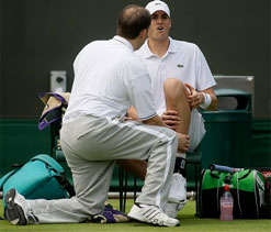 Marathon man Isner quits Wimbledon after injury
