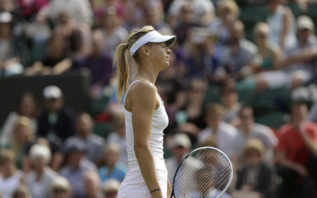 Maria Sharapova knocked out of Wimbledon