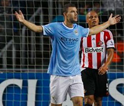 Pellegrini praises Manchester City striker Dzeko