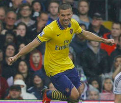 Arsenal`s Podolski out for up to 10 weeks
