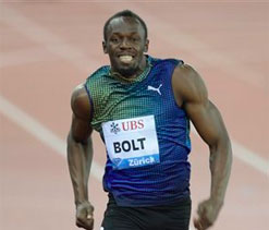 Usain Bolt wins 100 metres in Zurich Diamond League