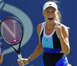 Wozniacki roars into third round at US Open