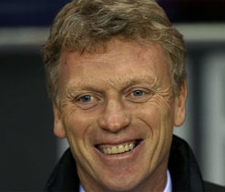 Moyes nominated for PL`s Manager of the Month award