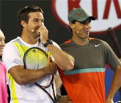 Nervy Rafter could `choke` in doubles return with Hewitt