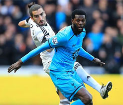 Emmanuel Adebayor stars as Sherwood`s Spurs extend league run