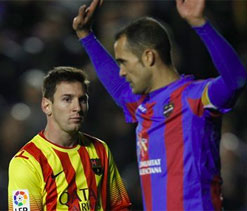 Barcelona held by battling Levante