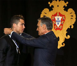 Cristiano Ronaldo awarded top honour by Portuguese president