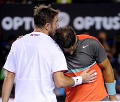 Don`t boo Nadal, Wawrinka tells fans