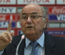 Blatter angered by