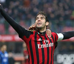Two-goal Kaka leads Milan to victory over Atalanta