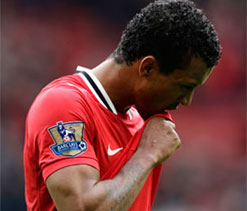 Manchester United winger Nani out for another month