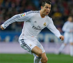 Ronaldo hit by lighter thrown by Atletico fans