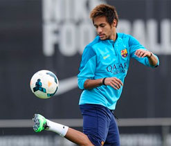 Barcelona`s Neymar on course to face Manchester City