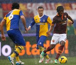 Roma-Parma halted due to heavy rain