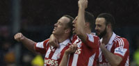 Stoke City beats Manchester United for 1st time since 1984 in England's top flight league