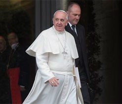 Pope jokes he might support Brazil at World cup