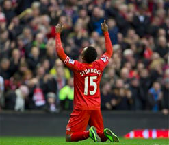 Red-hot Sturridge keeps Liverpool in touch at top
