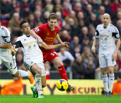Liverpool vs Swansea: The Kop accept Shelvey`s goal at Anfield