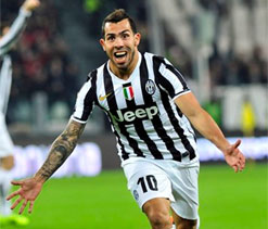 Tevez gives Juve derby win over furious Torino