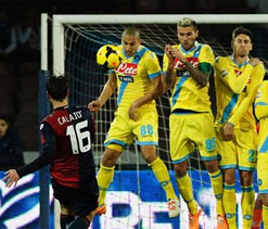 Napoli drop points after late Genoa equaliser