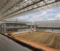 Brazil`s World Cup stadium to open in April