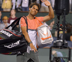 Nadal and Sharapova knocked out of Indian Wells