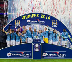 Man City sink Sunderland to win League Cup final
