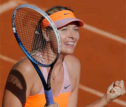 Sharapova overpowers Bouchard to reach French Open final