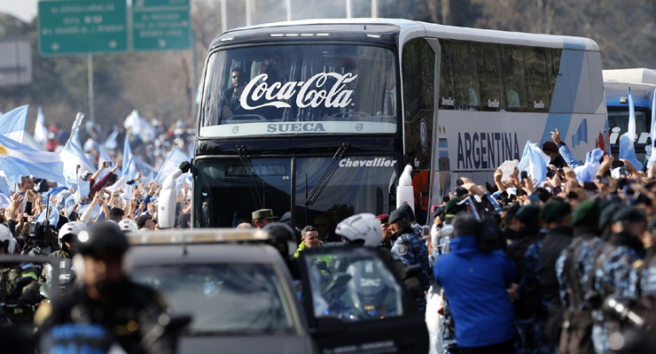 FIFA World Cup: Thousands welcome home Argentina after final defeat