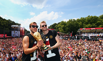 World champions Germany get rapturous welcome at home