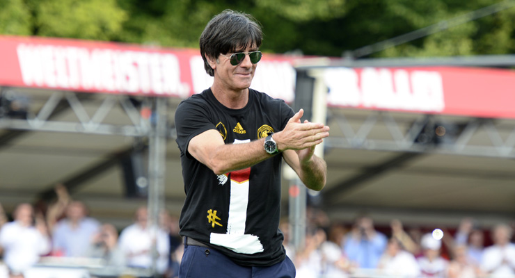 `We are all world champions,` German coach Loew tells fans