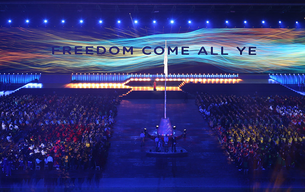 In Pics: Spectacular ceremony opens Commonwealth Games 2014