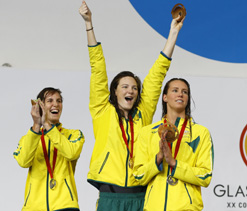 Commonwealth Games: Double swim gold for England, South Africa, Australia