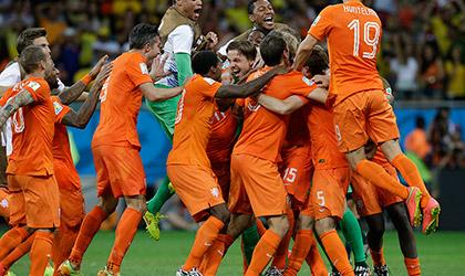 FIFA 2014: Netherlands vs Costa Rica, won 4-3, Match 60