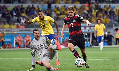 FIFA 2014: Germany beat  Brazil 7-1, Match 61